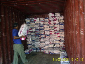 Lump Charcoal loading container