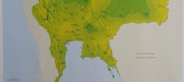 แผนที่ความเร็วลมของประเทศไทยที่ระดับความสูง 90 เมตร
