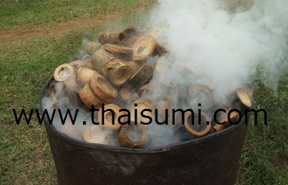 Bamboo tree biomass charcoal carbonization