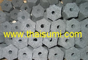 Coconut shell charcoal Briquette - Hexagonal