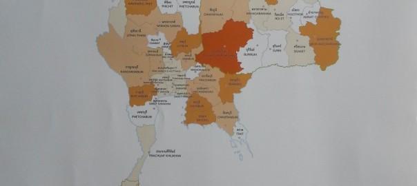 แผนที่แสดงการใช้พลังงานความร้อนจากก๊าซชีวภาพในประเทศไทย 2556